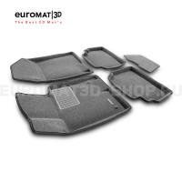 Текстильные 3D коврики Euromat3D Business в салон для Kia K5 (2020-) № EMC3D-002708G Серые